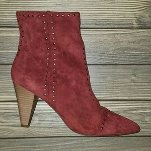 Universal Thread red suede studded boots